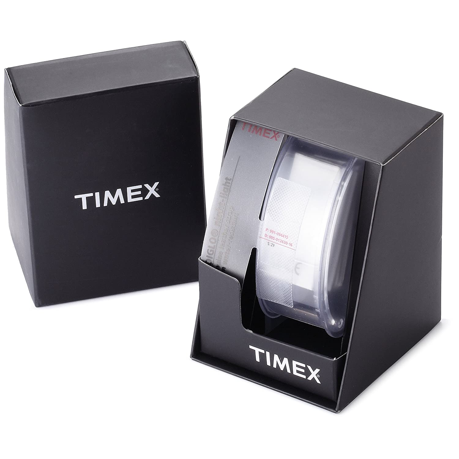 Brand new timex t2n523 mens brown leather strap date for Naugatuck glass company