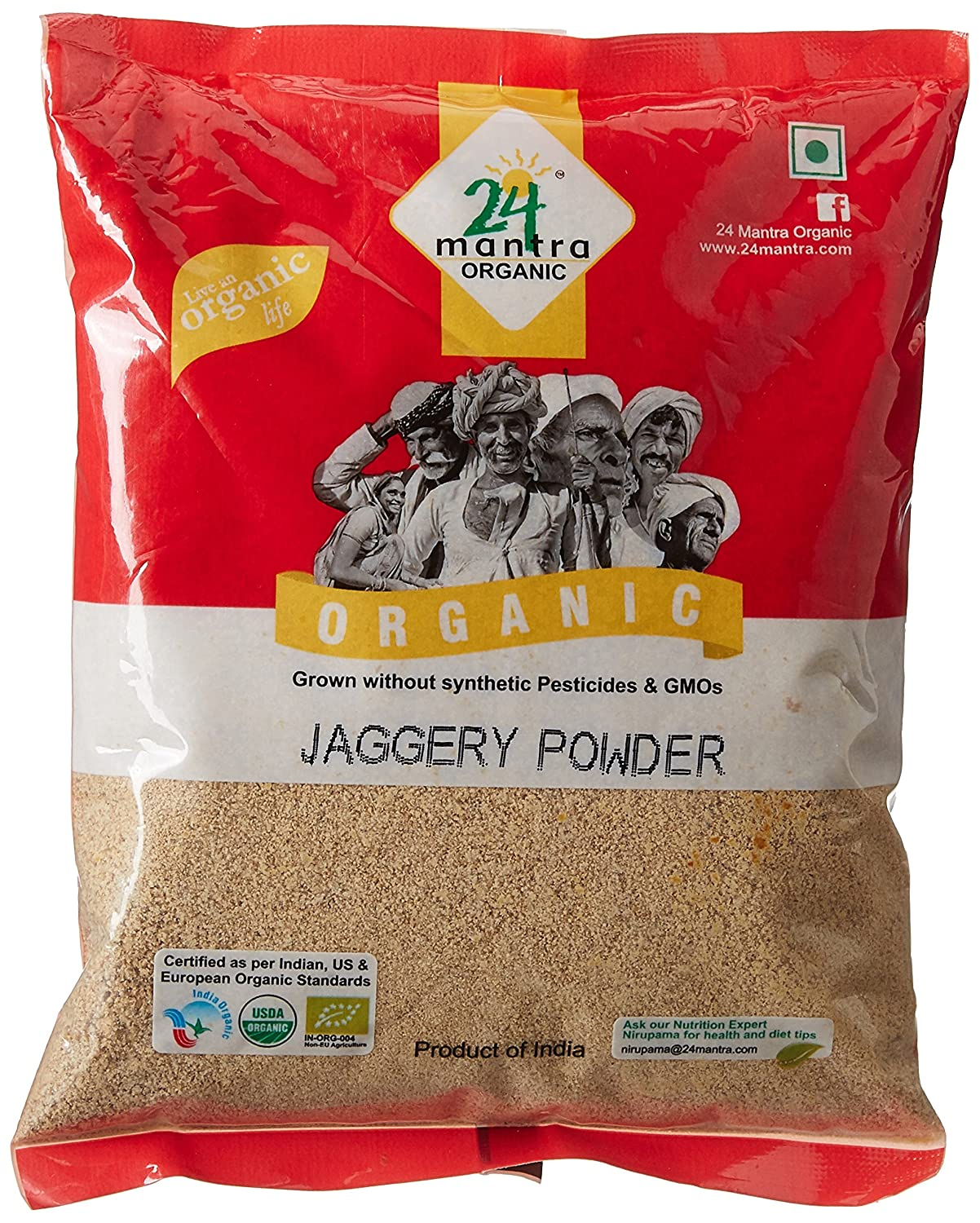 24 Mantra Organic Products Jaggery Powder, 500g By Amazon  Rs.74