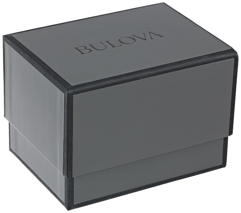 Bulova Men's 96C105 Black Dial Bracelet Watch: Bulova