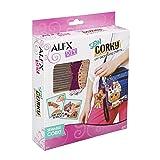ALEX DIY Sew Corky Uni Zebra Bag Charms (Color: Multicolor)