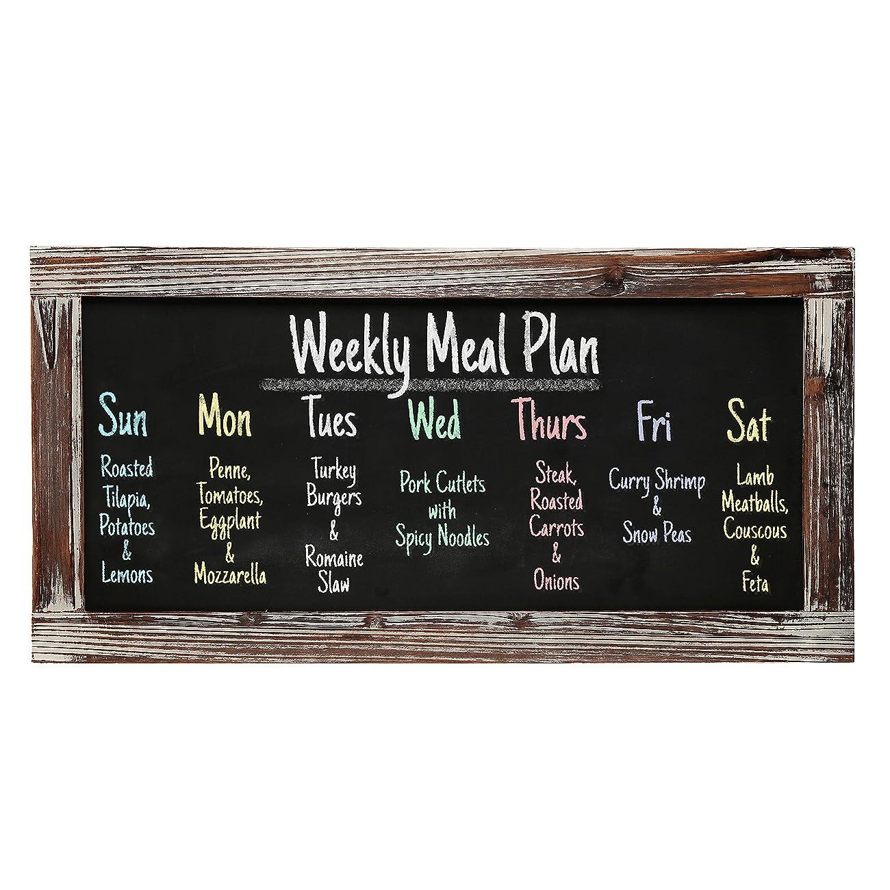 Rustic Style Wood Framed Erasable Blackboard / Chalk Message Memo Board / Restaurant Store Sign - MyGift® 0