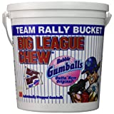 Big League Chew - Original Bubble Gum Flavor + 80pcs Individually Wrapped Gumballs + Baseball Dugout Team Rally Bucket + Perfect for Games, Concession Stands, Picnics and Parties (Tamaño: 80 Gumballs)
