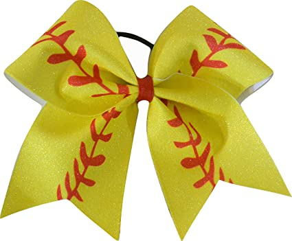 Large Softball Bows Large Softball Hair Bow