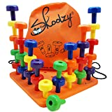 Skoolzy Peg Board Set - Montessori Toys for Toddlers and Preschool Kids   30 Pegs for Learning Colors, Sorting Counting - 30pg Occupational Therapy Fine Motor Skills Activity Pegboard Download