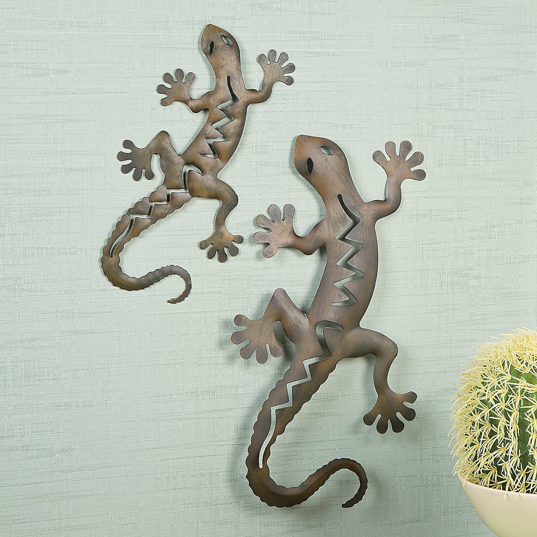 Gecko Wall Decor Ideas: Gecko Metal Wall Art