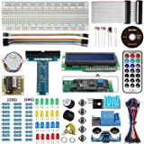 Smraza Basic Starter Kit with LCD 1602 (with IIC), Ultrasonic distance sensor, Servo Motor and Buzzer for Arduino and Raspberry Pi (Color: Starter Kit)