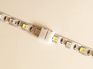 20pcs 5Pin 10MM RGBw 5050 LED Light Strip Solderless Connector Adapter for 5050SMD Non-Waterproof RGBW LED Strip (20 Pcs RGBW Connectors) (Color: Rgbw)