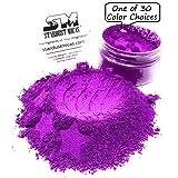 Stardust Micas Neon Pigment Powder for Soap Making, Slime Coloring, Epoxy Resin, Bright True Fluorescent Colors Cold Process Stable Matte Dye Colorant Purple Orchid (Color: Purple Orchid, Tamaño: 36 Gram Jar)