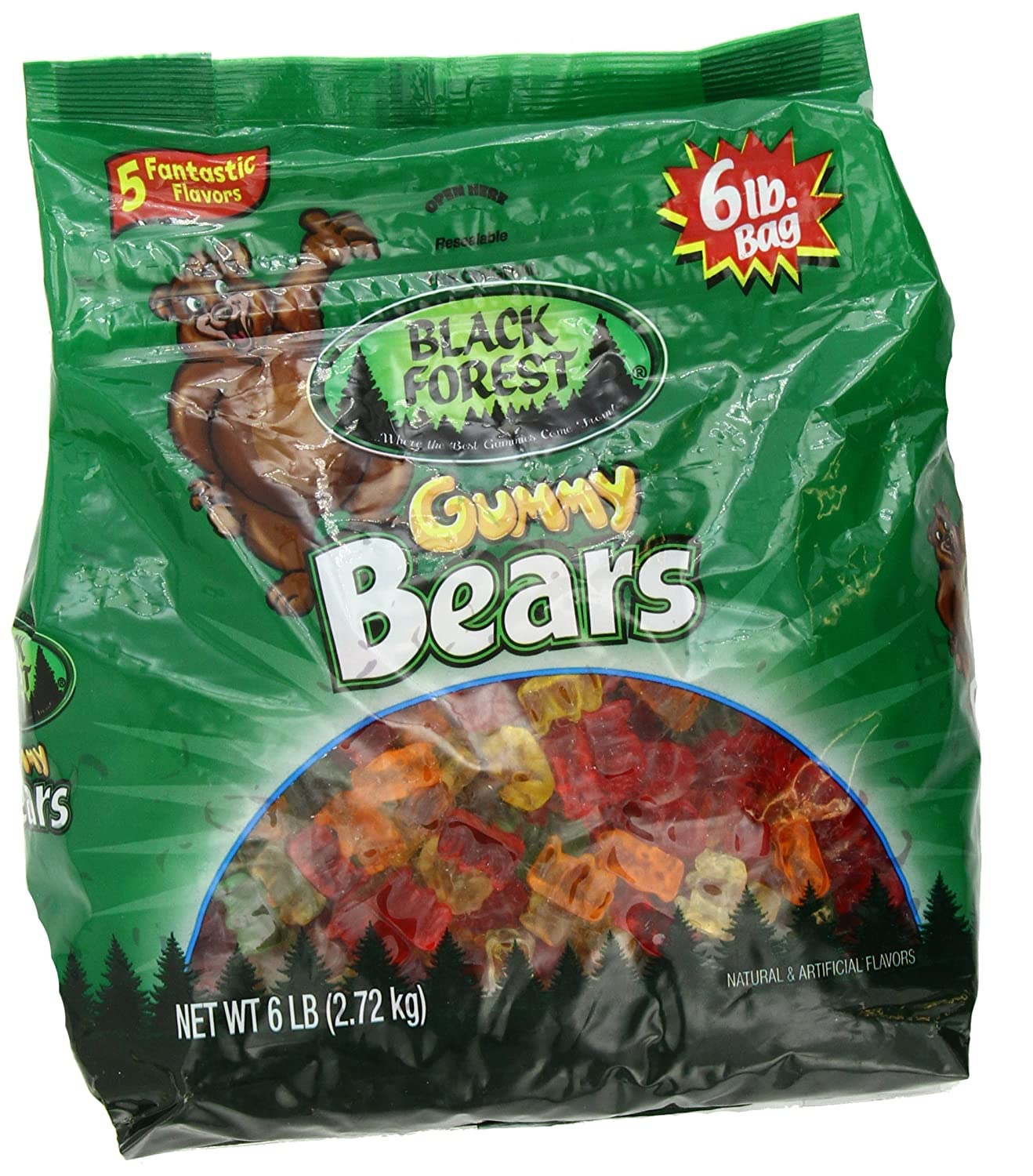 Black Forest Gummy Bears Ferrara Natural and Artificial Flavors 6lbs