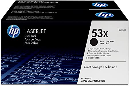 HP Q7553XD Dual Pack Cartouche de toner 2 x Noir 7000 pages