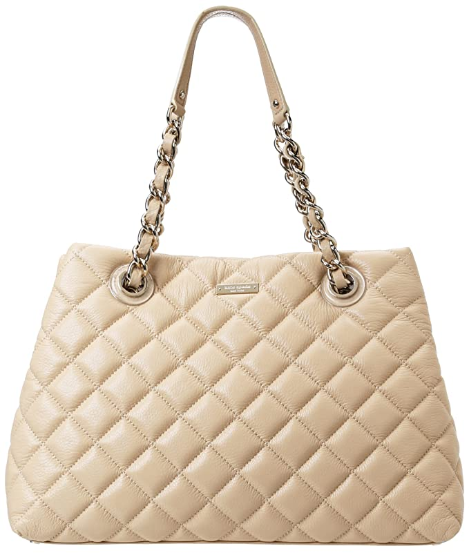 Beige Quilted Tote by Kate Spade New York