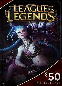 Amazon.com: League of Legends $50 Gift Card - 7200 Riot