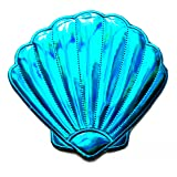 Nipitshop Patches Big Blue Shellfish Patch Shell Little Mermaid Ocean Summer Beach Sequin Shine Shiny Embroidered Iron-On Patch Cartoon kid for Clothes Costume or Gift Sets