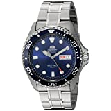 Orient Men's 'Ray II' Japanese Automatic Stainless Steel Diving Watch, Color:Silver-Toned (Model: FAA02005D9) (Color: Blue)
