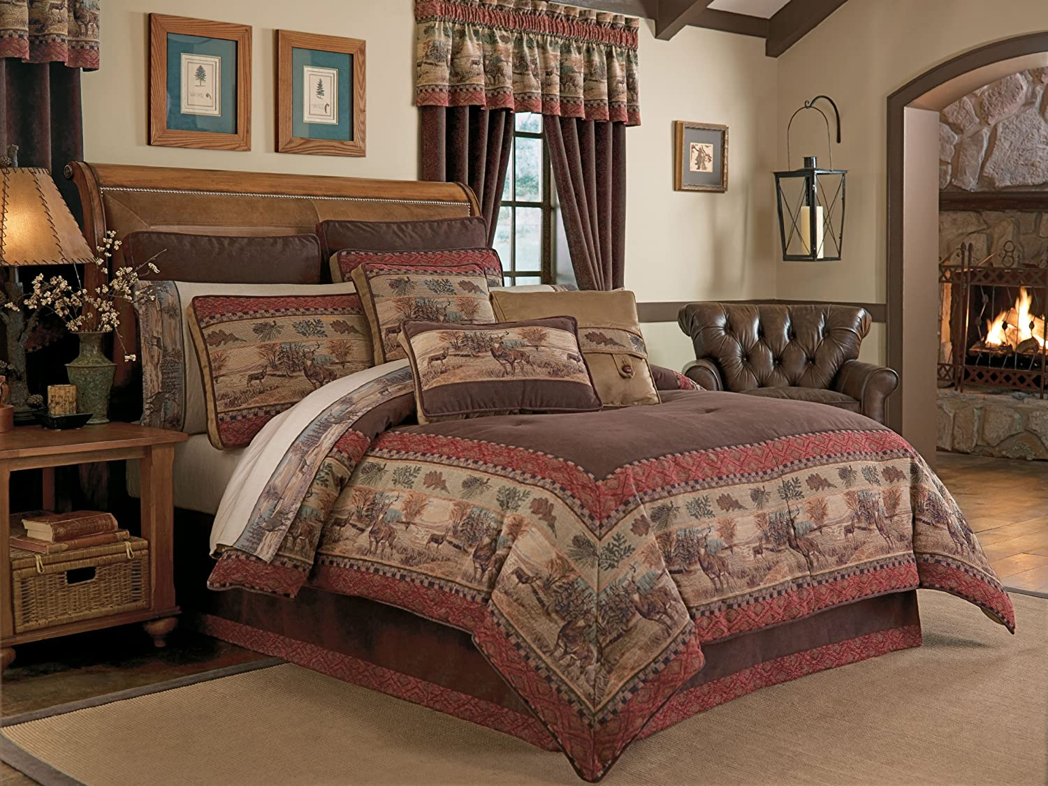 Rustic bedding cabin bedding lodge bedding cabin decor for Decorative bed quilts