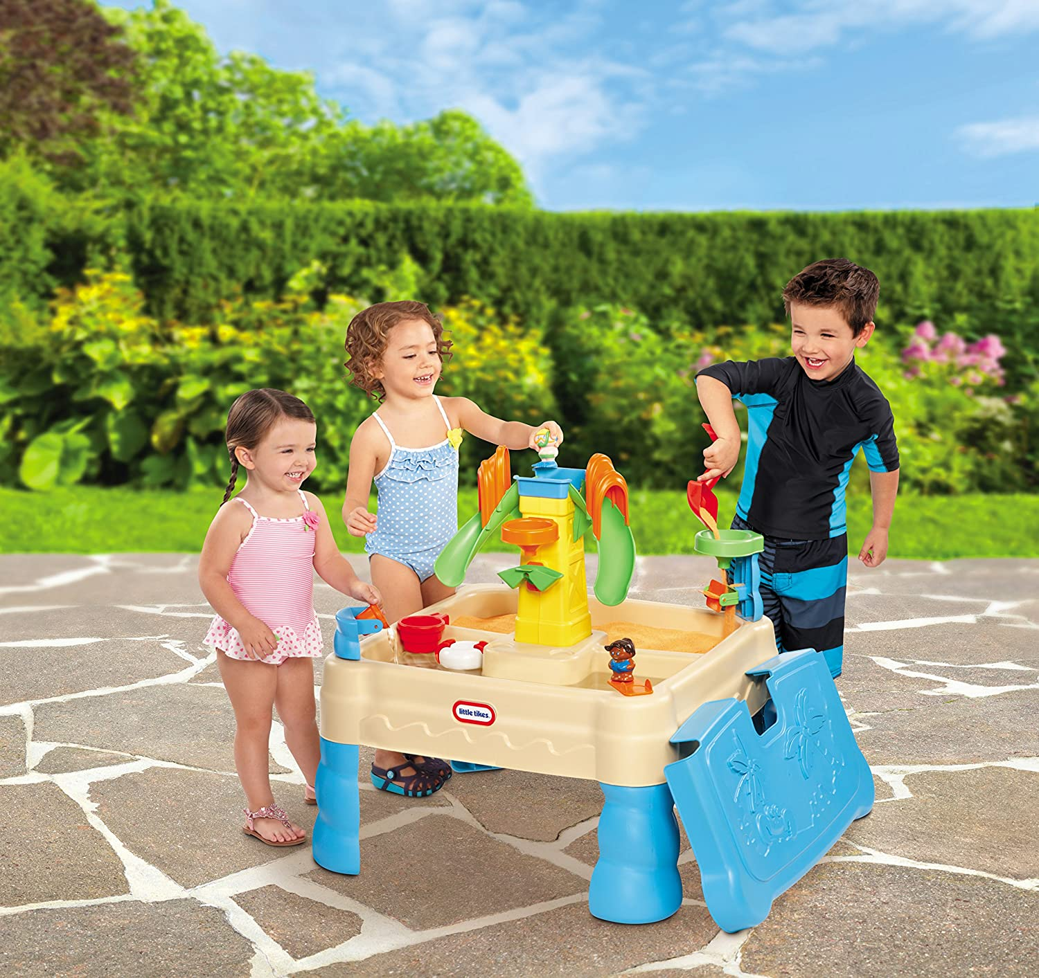 An Image of Little Tikes Sandy Lagoon Waterpark Play Table