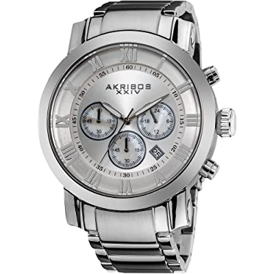 Akribos XXIV Men's AK622SS Grandiose Stainless Steel Bracelet Watch