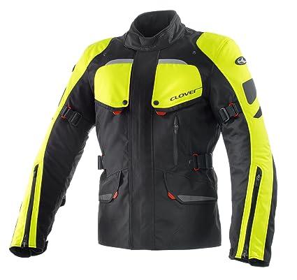 Clover 99171925_ 06Scout Veste de moto Noir/Jaune Fluo Taille XXL