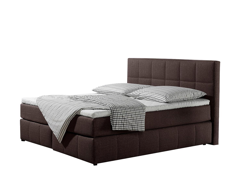 Maintal Betten 237361-3158 Box springbett Casano 180 x 200 cm, Strukturstoff braun