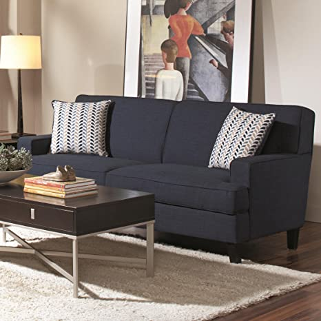 Coaster Home Furnishings Transitional Sofa, Blue