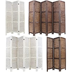 Hartleys Wooden Framed Folding Wicker Room Divider   Brown   6 Panel       reviews and more news