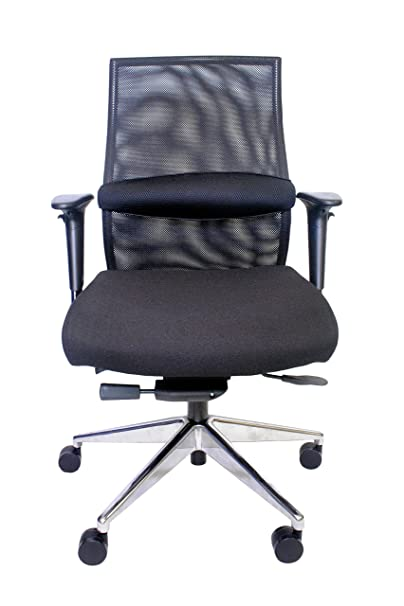 Century Office ZipAir Plus Swivel Height Adjustable Mesh Office Chair, Black