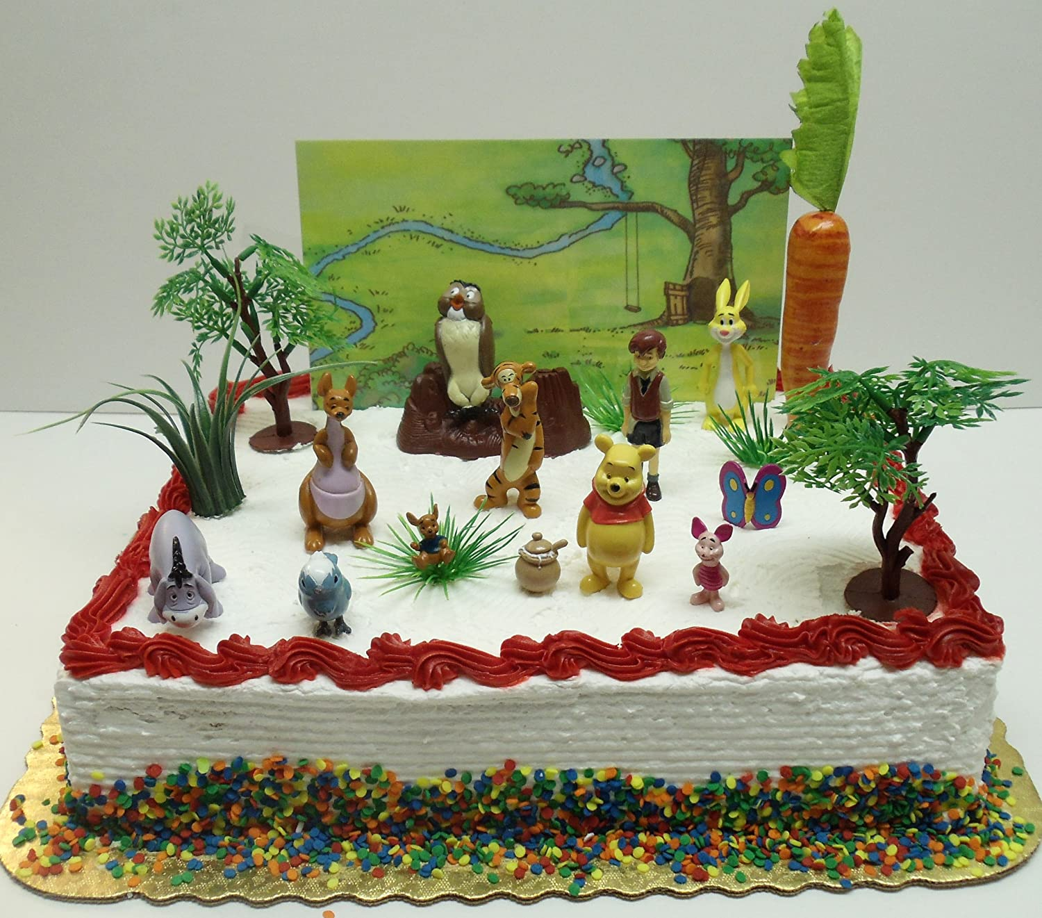 Cake Decoration Figures : Winnie The Pooh 16 Piece Birthday Cake Topper Set ...