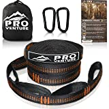 Pro Hammock Tree Straps with CARABINERS - 11 Feet, Adjustable 44 Loops, 400LB Rated (1200LB Tested), Easy Set up, Heavy Duty But Lightweight. (Color: Orange, Tamaño: 11 Feet)