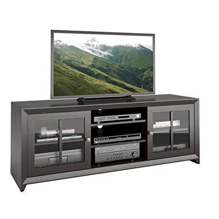 "CorLiving Carlisle TV Bench for TVs, Up to 70"", Coffee Black"