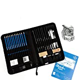 Professional Drawing Kit by Decor Frontier - Complete Sketching Pencil Set Includes Graphite Pencils, Free Sketchpad, and All Essential Drawing Supplies And Drawing Pencils For Artists   40 Piece Kit