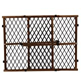Evenflo Position and Lock Farmhouse Pressure Mount Gate, Dark Wood