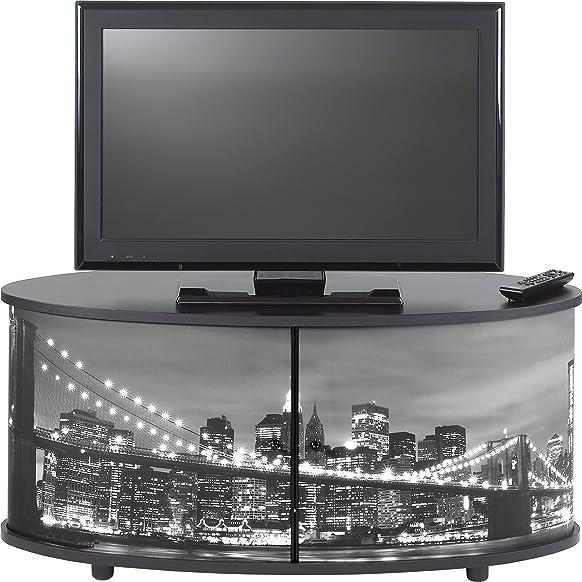 Simmob print110nob Mobile TV pannello/legno nobilitato nero 50,8x 110,4x 45,4cm