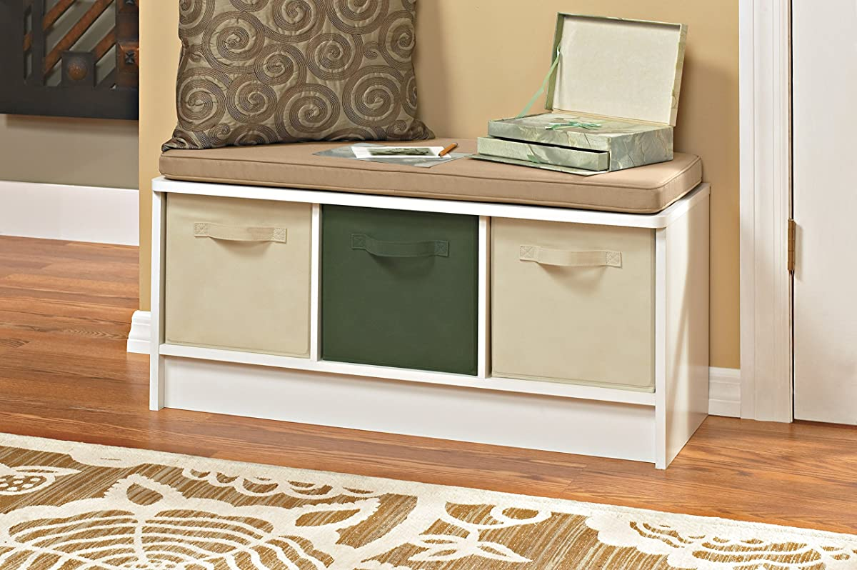 Closetmaid 1569 Cubeicals 3 Cube Storage Bench White