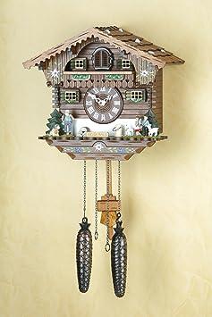Orologio a cucù al quarzo Casetta di Heidi, dipinta a mano | I ...