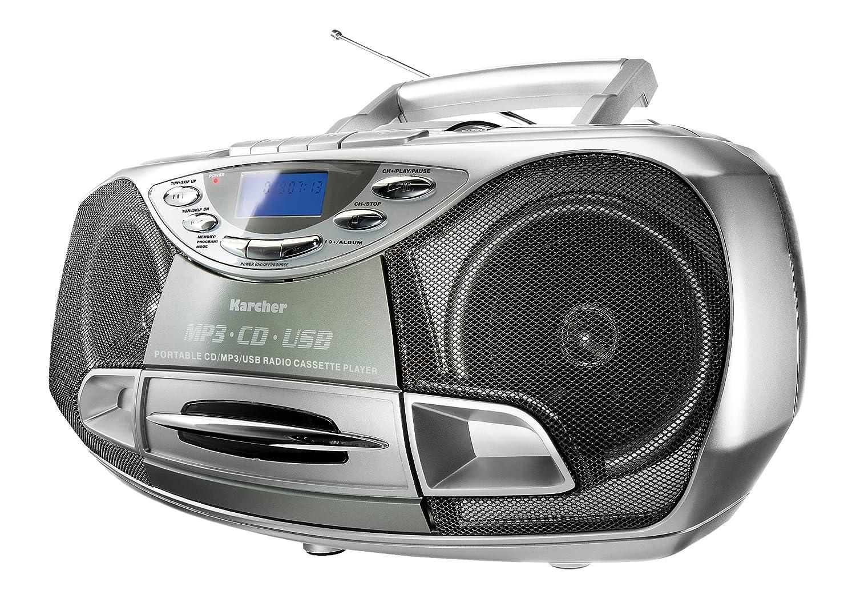 karcher rr 510 n boombox stereoanlage cd mp3 usb pll radio kassette tragbar ebay. Black Bedroom Furniture Sets. Home Design Ideas