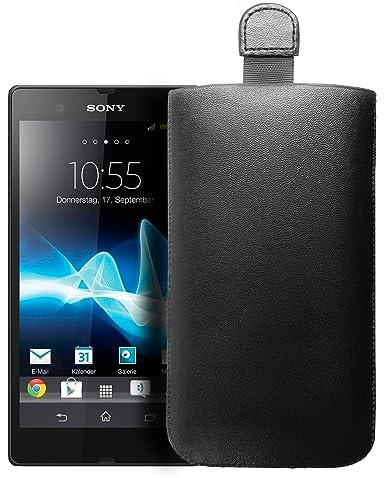 mumbi Tasche Sony Xperia Z Etui (PU-Leder) - Lasche mit Ausziehhilfe