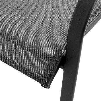 Elegante 7 Teilige Sitzgarnitur Gartengarnitur Aluminium Polywood / Non  Wood Tisch 205x90x74, 5cm + 6x Gartenstuhl Stapelbar Mit Textilenbespannung  ...