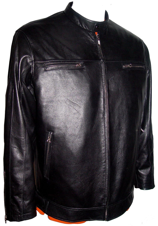 Paccilo 4 Saison Kleidung Herren 1017 China Kragen Motorrad LederjackeMotorradfahrer