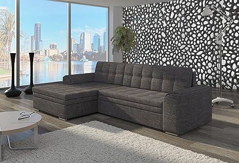 Couch Couchgarnitur Sofa Polsterecke CF21 Ottomane links, Sawana 05 (die Ottomane kann schriftlich kostenlos auf die andere Seite geändert werden) Wohnlandschaft Schlaffunktion Wohnzimmer Kinderzimmer Gästezimmer