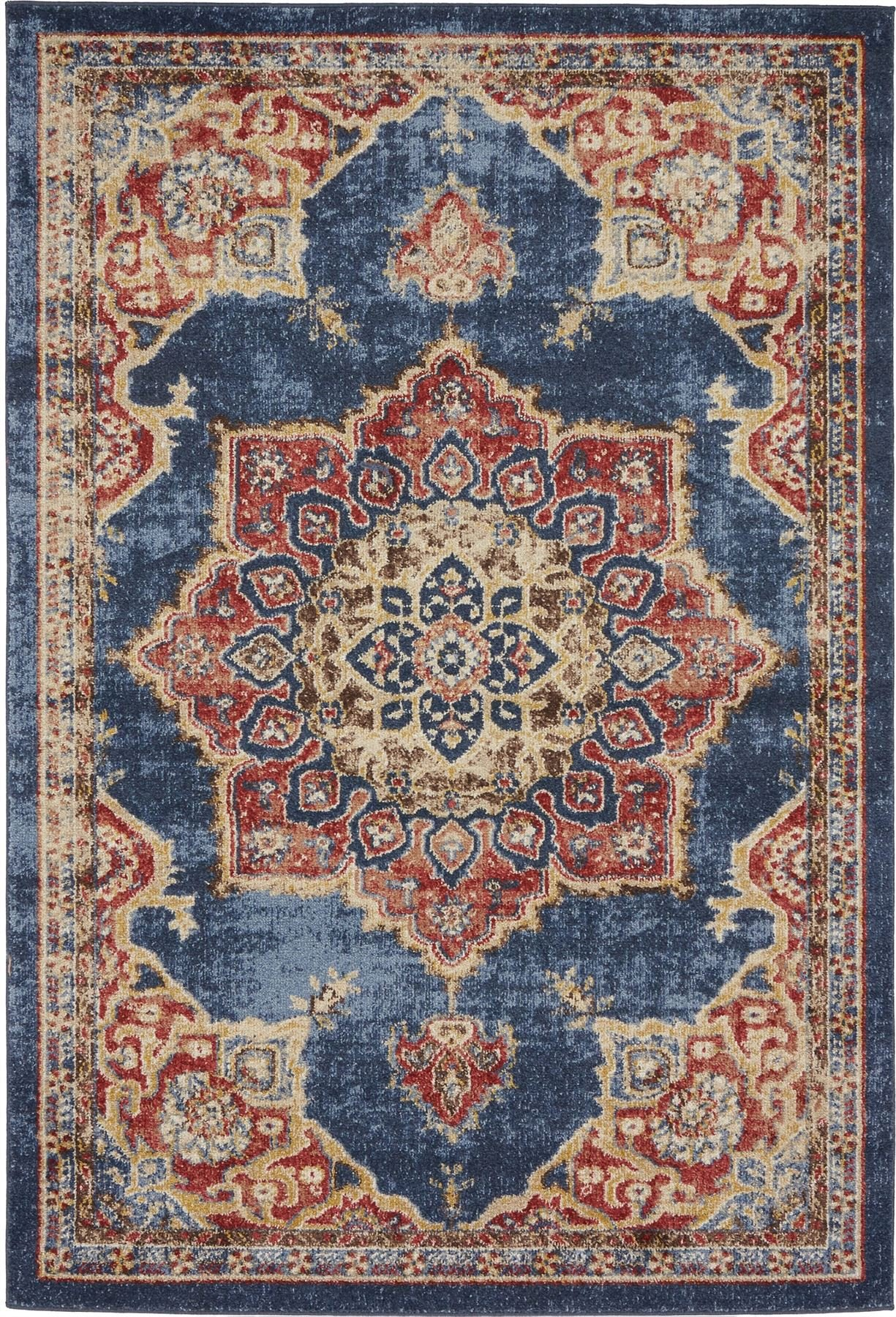 Traditional Persian Rugs Vintage Design Inspired Overdyed