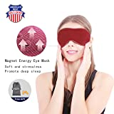 Magnetic Sleep Mask Eye Mask for Sleeping Blindfold Sleep Mask for Woman Cover Eyes to Sleep Mask Men Sleep Aid for Puffy Eyes Masks (Color: Red)