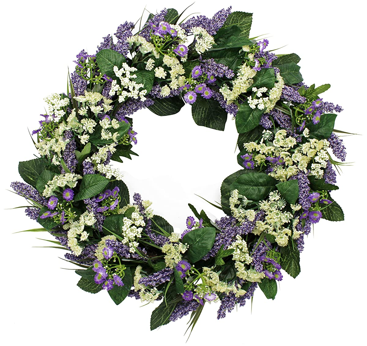 Bishops Lace Silk Spring Front Door Wreath 22 Inch