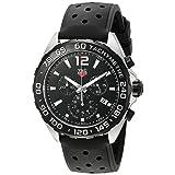 TAG Heuer Men's 'Formula 1' Swiss Quartz Stainless Steel and Rubber Dress Watch, Color:Black (Model: CAZ1010.FT8024) (Color: Black)