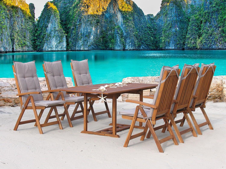 Garten Möbelgruppe Cuba 13tlg Sand mit ausziehbarem Tisch bestellen