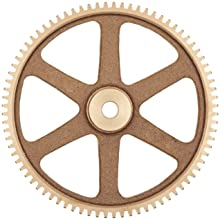 Boston Gear Spur Gear, 14.5 Pressure Angle, Brass, Inch, 16 Pitch