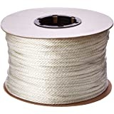 Cordage Source Solid Braided Nylon Rope, 3/16-Inch by 500-Feet, White (Color: White)