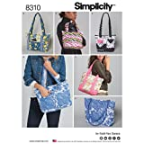 Simplicity Creative Patterns US8310OS Quilted Bags in Three Sizes Pattern, One Size (One Size) (Tamaño: One Size (One Size))