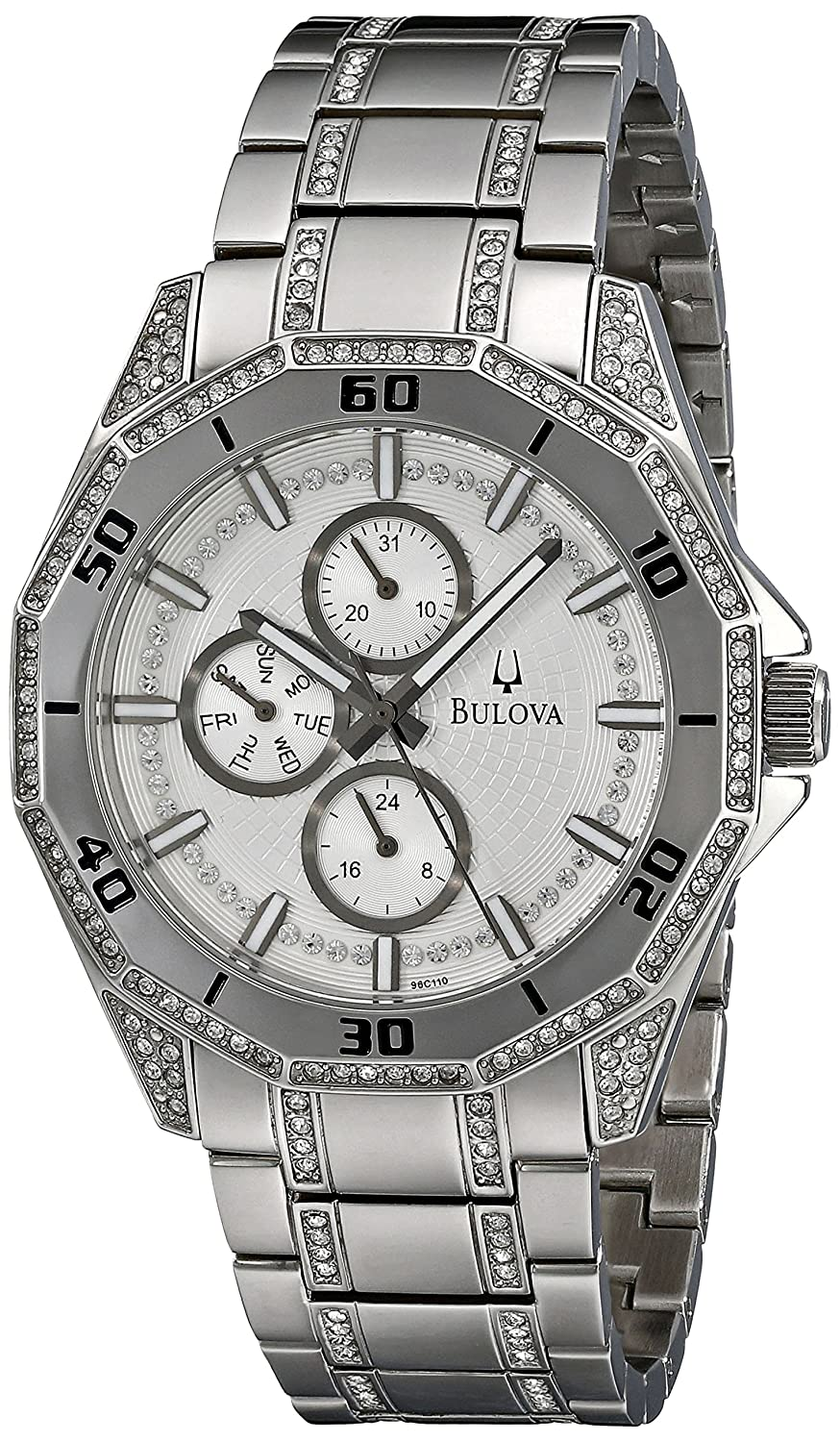 Bulova Men's 96C110 Crystal Multifunction Watch bulova 44l231