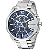 Diesel Men's 'Mega Chief' Quartz Stainless Steel Watch, Color:Silver-Toned (Model: DZ4417)