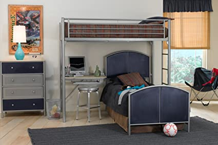 Universal Twin/Twin Loft Bed Set w/Chest